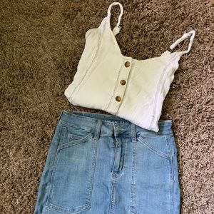 AEO Button Up Tank